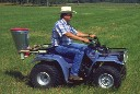 Herd GT 77 seeder mounted on an atv for spreading fire ant bait