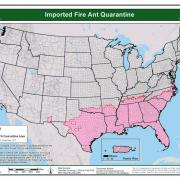 Imported Fire Ant U.S. Quarantine Map